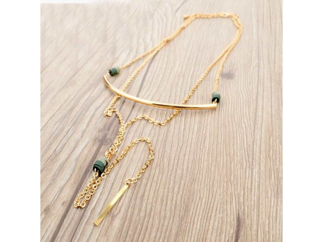 Collier long multi-rangs Arona