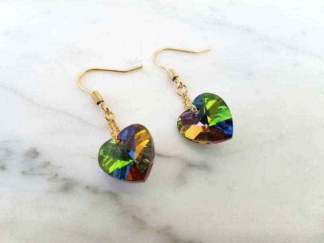Boucles d'oreilles forme coeur bijoux tendance
