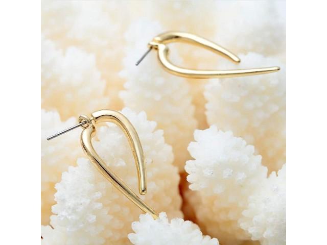vente boucles d'oreilles dorées à clipser