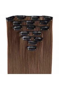 Extensions de cheveux à clips couleur chocolat