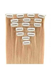 Extensions de cheveux à clips couleur blond clair