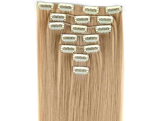 Kit extension à clips lisse 60 cm couleur blond caramel