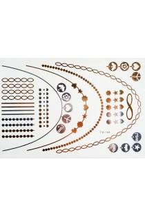Xena Kit tatouage temporaire métallique - Body Art - Argent/Or