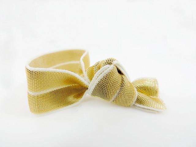 Metallic hair tie