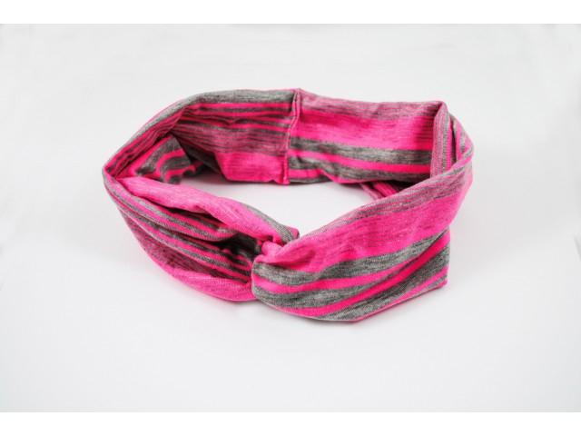 Bandeau large en tissu, style turban