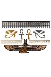 Cléopâtre Kit tatouage temporaire métallique - Body Art - Argent/Or