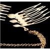 Barrette, peignes en métal couleur or reliés par des chaînes