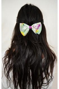 Barrette à cheveux en noeud papillon à dentelle