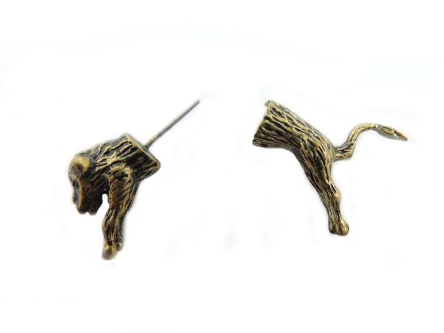 Bijou d'oreille à enfiler en forme de tigre